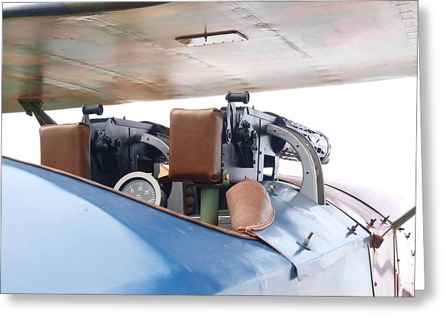 Obsolete Airline Greeting Cards - Gunners Position Greeting Card by Ralph Brannan