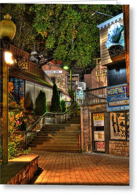 Gatlinburg Tennessee Greeting Cards - Guns Knives and Jail Greeting Card by Greg and Chrystal Mimbs