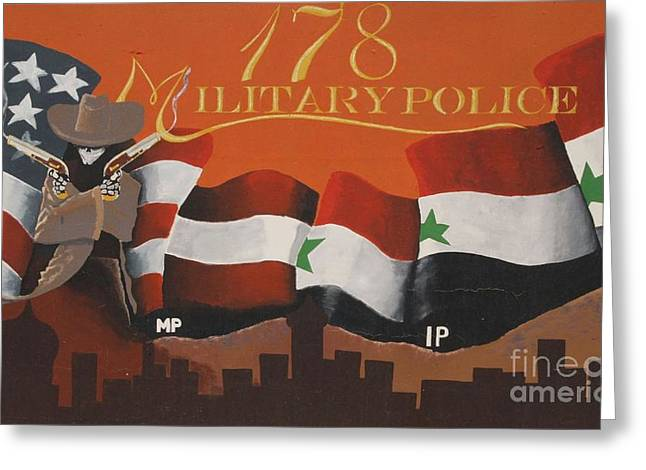 Afghanistan National Police Greeting Cards - Gunslingers Greeting Card by Unknown