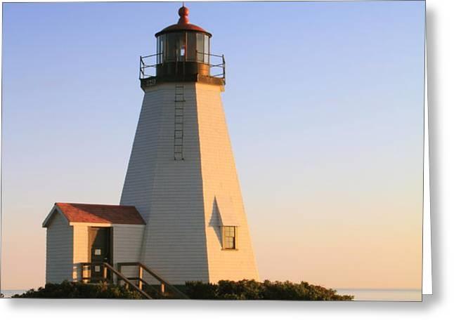 Gurnet Point Lighthouse Greeting Card by Roupen  Baker