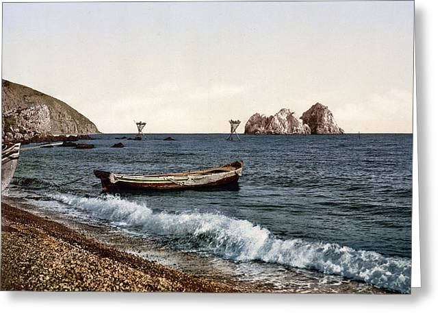 Sea View Greeting Cards - Gursuff - Crimea - Ukraine Greeting Card by Bode Stevenson