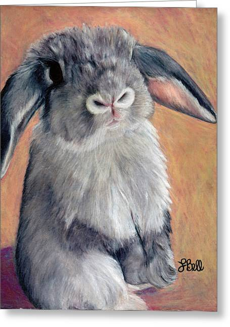 Hare Greeting Cards - Gus Greeting Card by Laura Bell