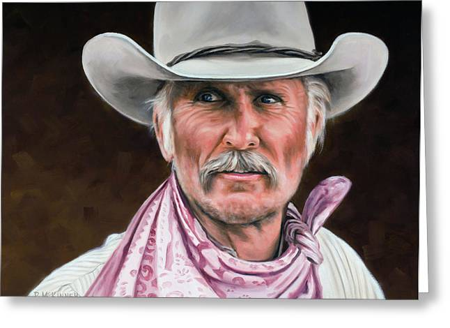 Cowboys Greeting Cards - Gus McCrae Texas Ranger Greeting Card by Rick McKinney
