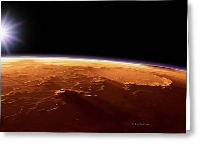 Gusev Crater, Mars, Artwork Greeting Card by Detlev Van Ravenswaay