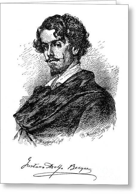 Autograph Greeting Cards - Gustavo Adolfo Becquer Greeting Card by Granger