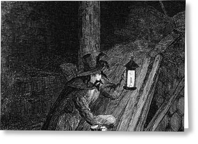 Guy Fawkes, English Soldier Convicted Greeting Card by Photo Researchers
