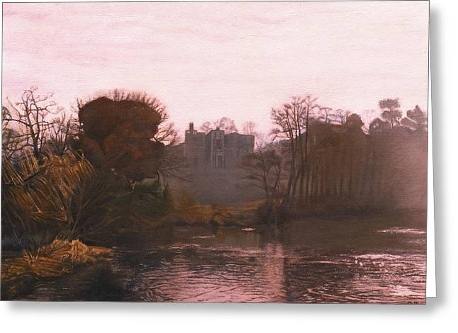 Warwick Paintings Greeting Cards - Guys Cliffe House Warwick England Greeting Card by David Rives