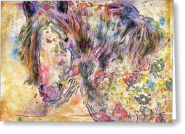 Gypsyhorse Greeting Cards - Gypsy Babe Greeting Card by Marilyn Sholin