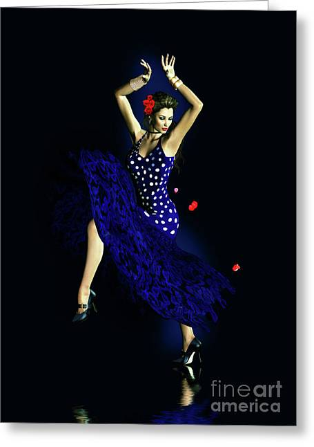 Passion Greeting Cards - Gypsy Blue Greeting Card by Shanina Conway