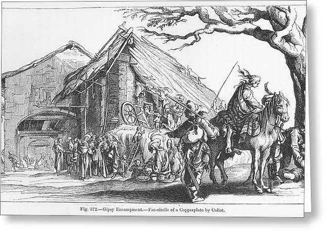 Gypsy Band Greeting Cards - GYPSY CAMP, 17th CENTURY Greeting Card by Granger