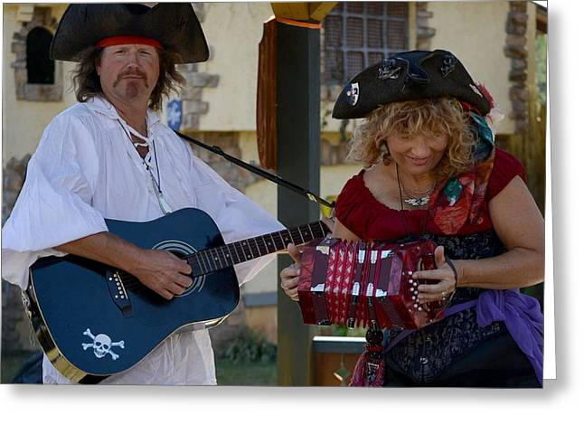 Guitar Stings Greeting Cards - Gypsy Minstrels Greeting Card by Eamon LaViolette