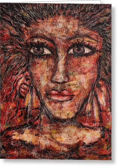 Natalie Holland Art Greeting Cards - Gypsy Greeting Card by Natalie Holland