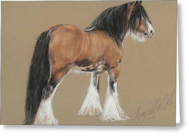 Stallion Pastels Greeting Cards - Gypsy Stallion Greeting Card by Terry Kirkland Cook