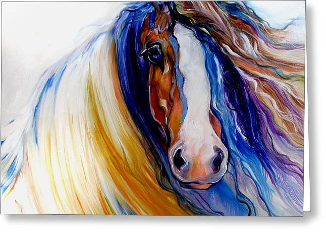 Gypsy Paintings Greeting Cards - Gypsy Vanner Rogue Greeting Card by Marcia Baldwin