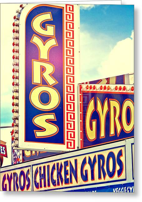 Food Vendors Greeting Cards - Gyros Fair Food Vendor Greeting Card by Eye Shutter To Think