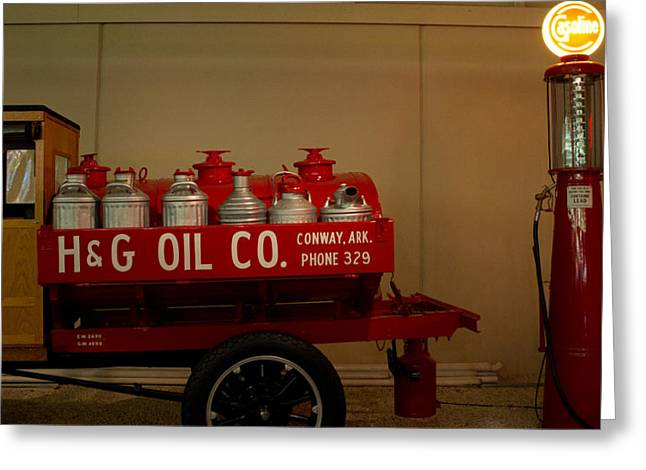 Conway Arkansas Greeting Cards - H and G Oil Company Greeting Card by Douglas Barnett