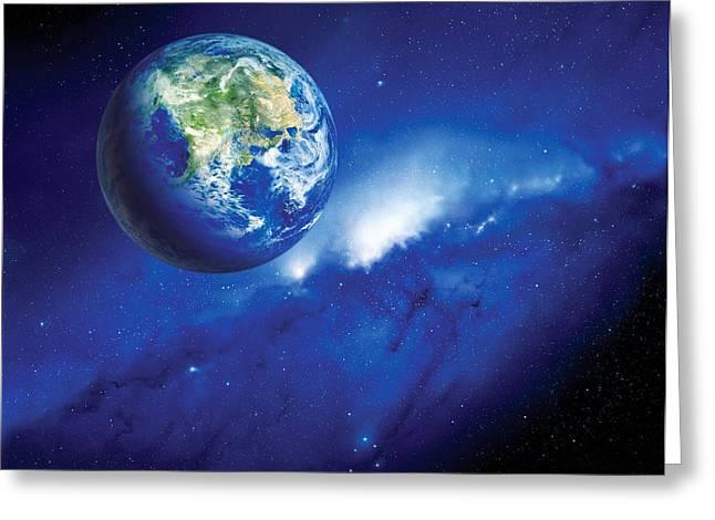 Planet Earth Greeting Cards - Habitable Alien Planet Greeting Card by Detlev Van Ravenswaay