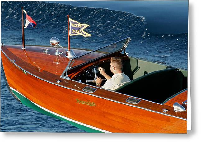 Mahogany Greeting Cards - Hacker Runabout Greeting Card by Steven Lapkin
