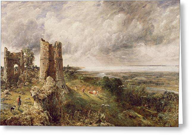 Constable Paintings Greeting Cards - Hadleigh Castle Greeting Card by John Constable