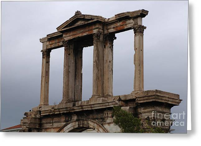Athens Ruins Greeting Cards - Hadrians Arch Athens Greeting Card by Bob Christopher