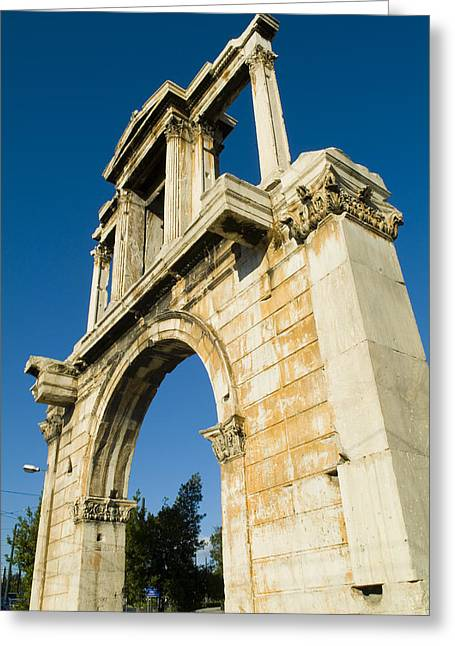Athens Ruins Greeting Cards - Hadrians Arch In Athens, Greece Greeting Card by Richard Nowitz