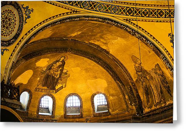 Hagia Sophia Architectural Details Greeting Card by Artur Bogacki