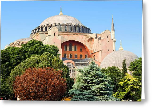 Hagia Sophia Greeting Card by Artur Bogacki