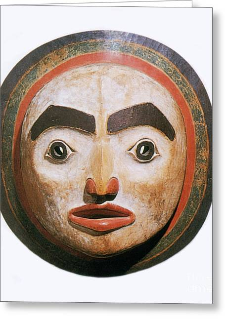 Shamanism Greeting Cards - Haida Moon Mask Greeting Card by Photo Researchers