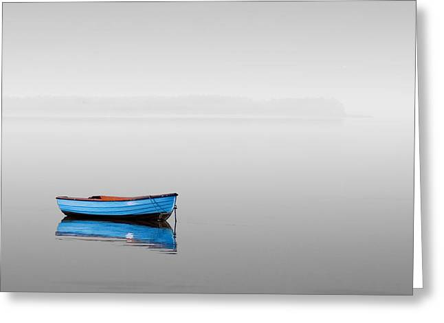 Boats In Reflecting Water Greeting Cards - Haiku 03 Greeting Card by Petru Maier