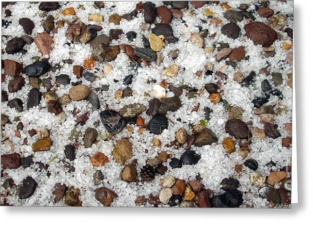 Weather Photographs Greeting Cards - Hail On The Rocks Rectangle Greeting Card by Methune Hively