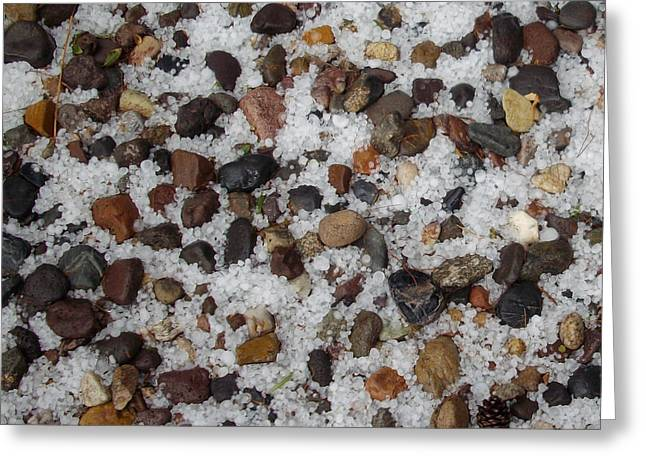 Weather Photographs Greeting Cards - Hail On The Rocks Square Greeting Card by Methune Hively