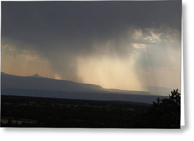 Verga Greeting Cards - Hail Storm and Glory Over Ghost Ranch New Mexico Greeting Card by Anastasia  Ealy