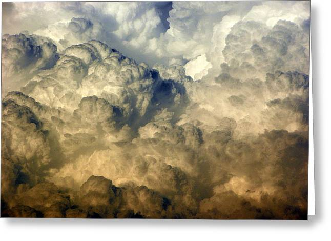 Storm Framed Prints Digital Art Greeting Cards - Hail Storm Forming 1 Greeting Card by Sheri McLeroy
