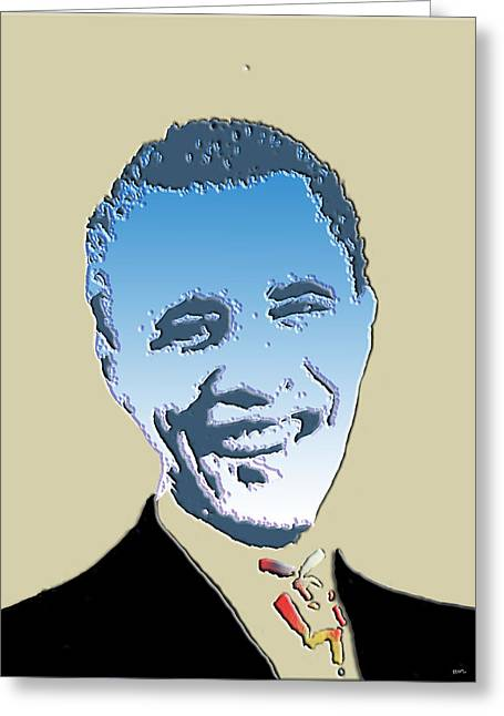 Barack Obama Digital Art Greeting Cards - Hail To The Chief Greeting Card by Robert Margetts