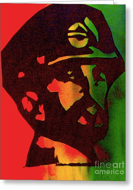 First Amendment Greeting Cards - Haile Selassie Greeting Card by Tony B Conscious