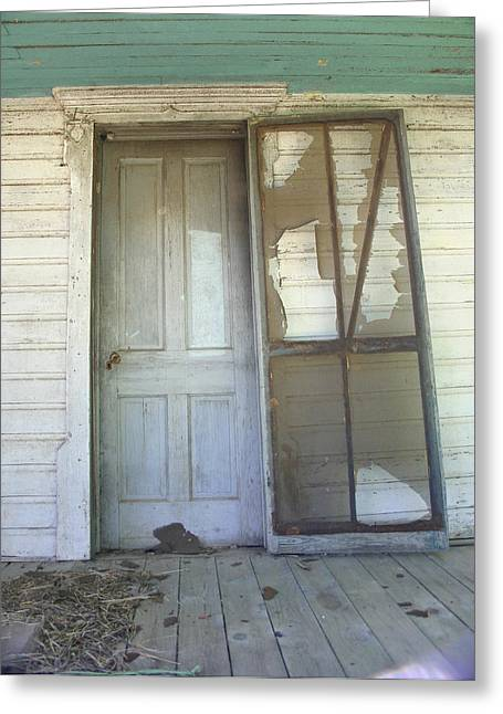 Screen Doors Greeting Cards - Haint Blue Greeting Card by Nina Fosdick