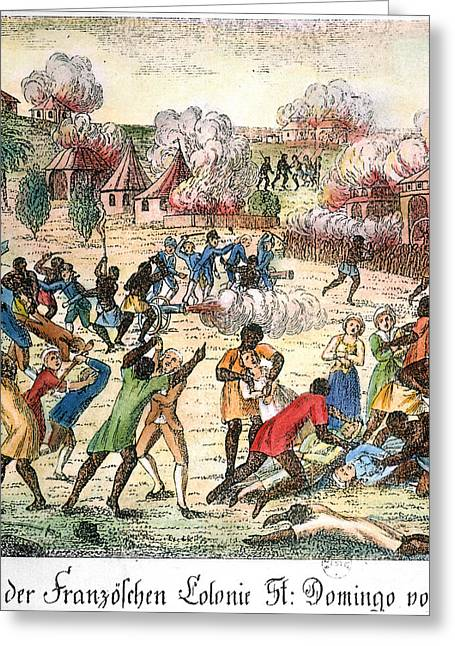 Proprietor Greeting Cards - Haiti: Slave Revolt, 1791 Greeting Card by Granger