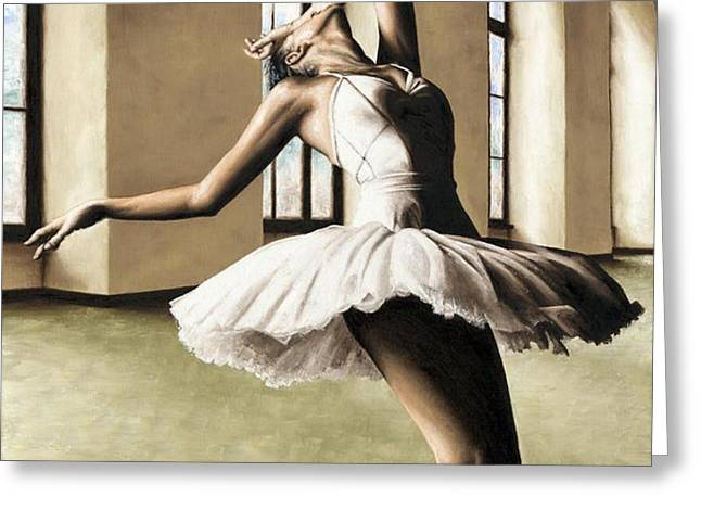 Halcyon Ballerina Greeting Card by Richard Young