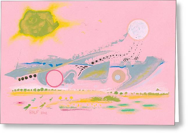 Valuable Drawings Greeting Cards - Halcyon Pink Greeting Card by Ralf Schulze
