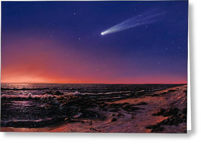 Hale-bopp Comet Greeting Cards - Hale-bopp Comet Greeting Card by Chris Butler