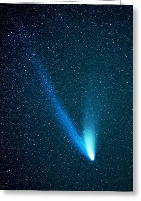 Hale-bopp Comet Greeting Cards - Hale-bopp Comet Greeting Card by Chris Madeley
