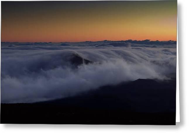 Haleakala Maui Greeting Cards - Haleakala clouds Greeting Card by Patrick  Flynn