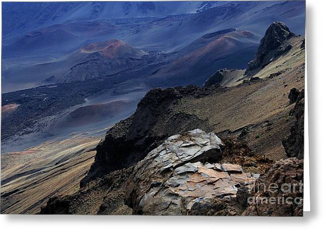 Surfing Photos Greeting Cards - Haleakala Crater  Greeting Card by Bob Christopher
