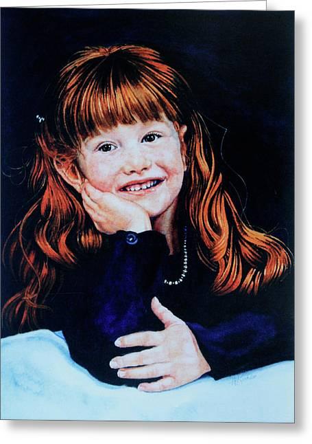 Hanne Lore Koehler Fine Art Greeting Cards - Haley Greeting Card by Hanne Lore Koehler