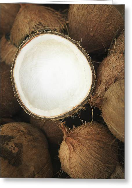 Cuisine Art Greeting Cards - Half Coconut Greeting Card by Brandon Tabiolo - Printscapes