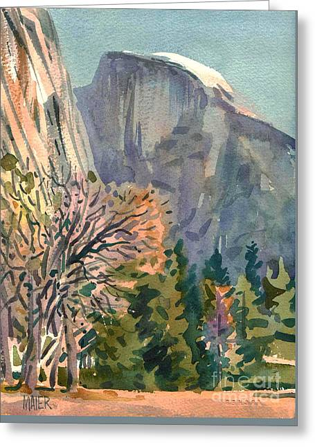 Half Dome Greeting Card by Donald Maier