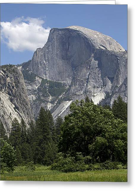 Half Dome Greeting Cards - Half Dome from Yosemite Valley Greeting Card by Brendan Reals