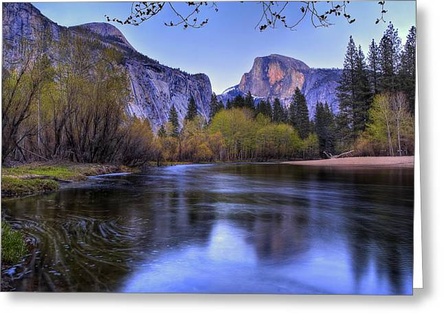 Half Dome Greeting Cards - Half Dome Near Sunset Greeting Card by Jim Dohms