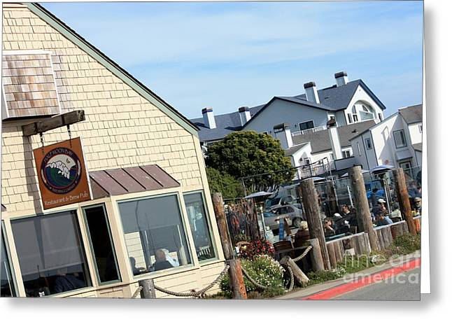 Pch Greeting Cards - Half Moon Bay Brewing Company Greeting Card by Polly Villatuya