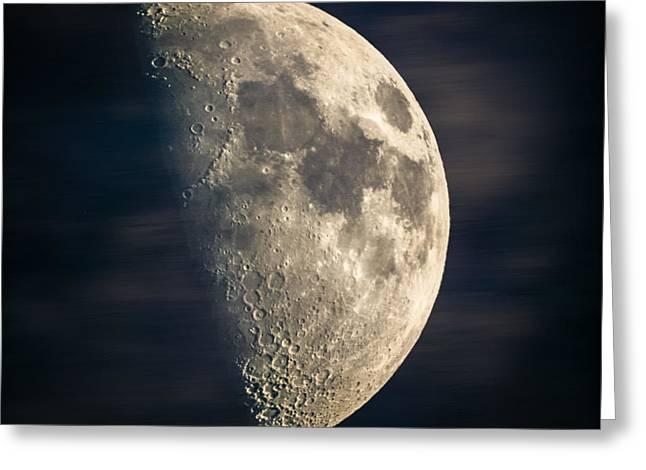 half moon III Greeting Card by Hannes Cmarits